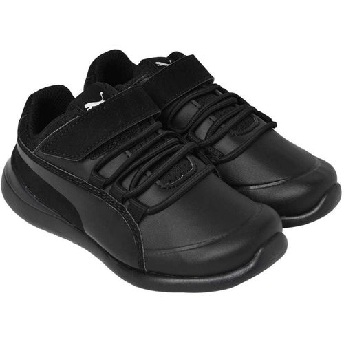 Puma Boys Lace Walking Shoes(Black)