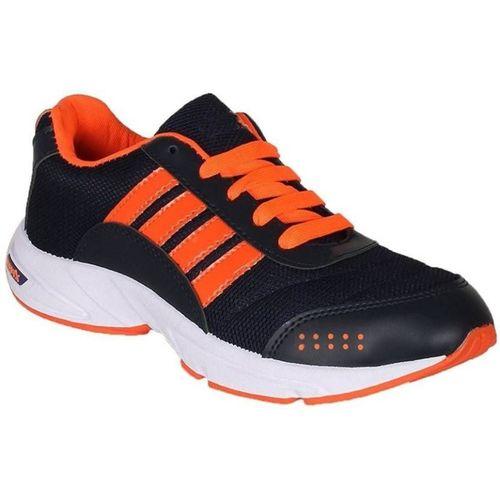 Leon Boys Lace Running Shoes(Orange)