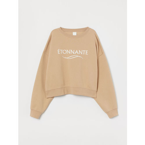 H&M Women Beige Sweatshirt