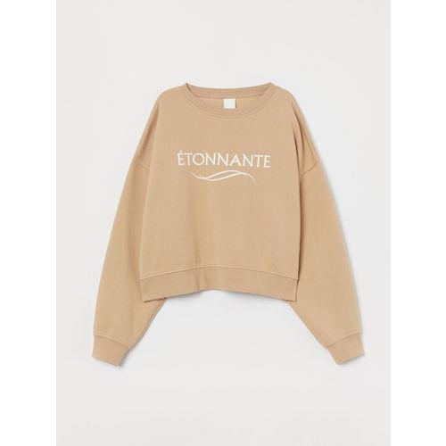 H&M Women Beige Sweatshirt