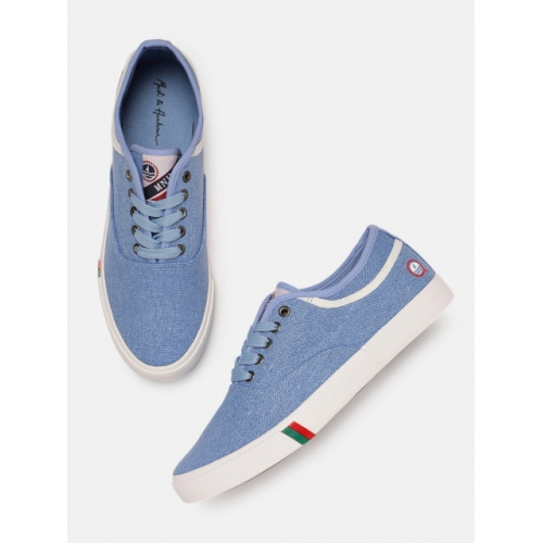 Mast & Harbour Blue Canvas Lace-up Sneakers