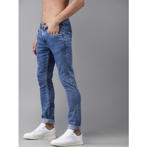 HERE&NOW Men Blue Skinny Fit Mid-Rise Clean Look Stretchable Jeans