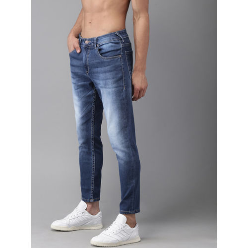HERE&NOW Men Blue Anlke Slim Tapered Fit Mid-Rise Clean Look Stretchable Jeans Jeans
