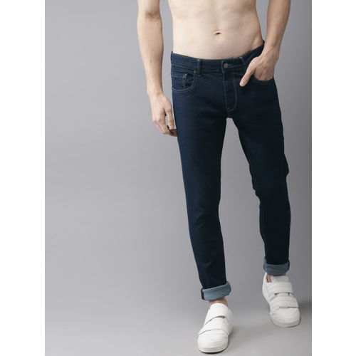 HERE&NOW Men Blue Slim Fit Mid-Rise Clean Look Stretchable Jeans