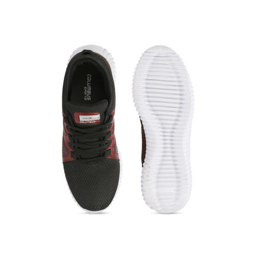 Columbus Men Black Mesh Running Shoes
