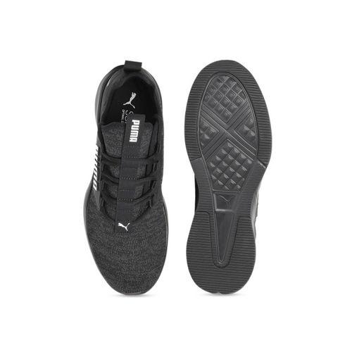 Puma Men Black Textile Lightweight Retaliate Knit Running Shoes