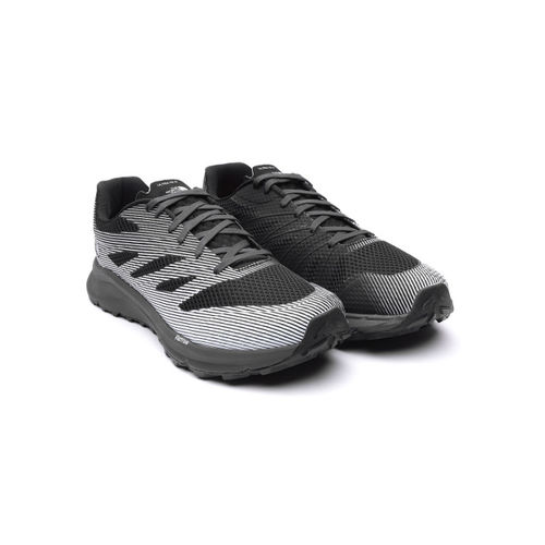 The North Face Men Black & White Striped Ultra TR III Running Shoes