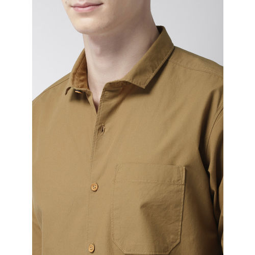 Mast & Harbour Men Khaki Regular Fit Printed Casual Shirt