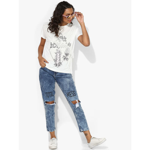 ONLY White Printed T-shirt