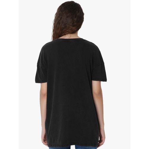 ONLY Black Printed T Shirt