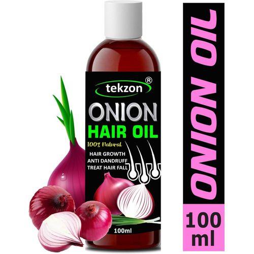 tekzon Natural Onion Oil with Pure Essential Oils Hair Growth Hair Oil(100 ml)