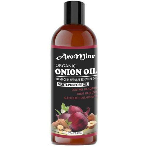 AroMine 100% Pure & Natural ONION Herbal Hair Oil - Blend of 14 Natural Oils for Hair Regrowth, Treat hair loss, Dandruff Control & Thickens hair( 100 ml) Hair