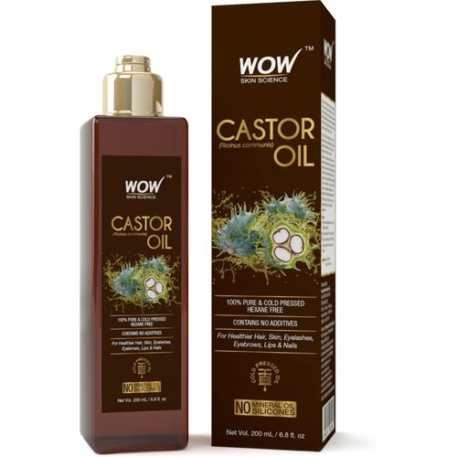 WOW Skin Science Castor Oil -200mL Hair Oil(200 ml)
