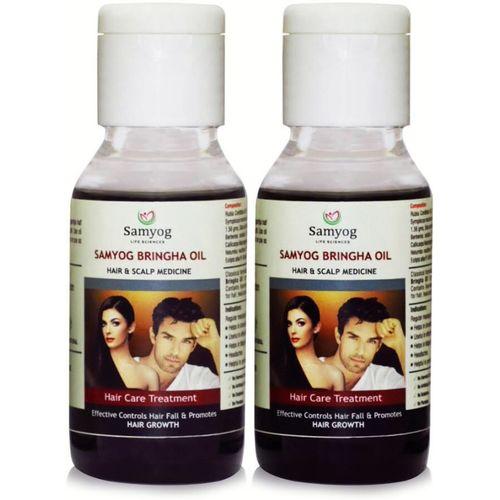 Samyog Life Sciences SAMYOG BRINGHA OIL, Hair and Scalp Medicine, Hair-fall Treatment, Promoting Hair Growth (Pack of 2)(120 ml)
