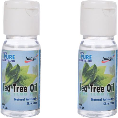 Imago Pure Natural Essential Te tree Oil for Hair and skin Care Antiseptic 60ml (Each Bottle 30ml) Hair Oil(60 ml)