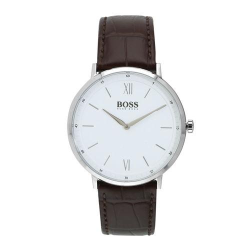 Hugo Boss Men White Leather Analogue Watch