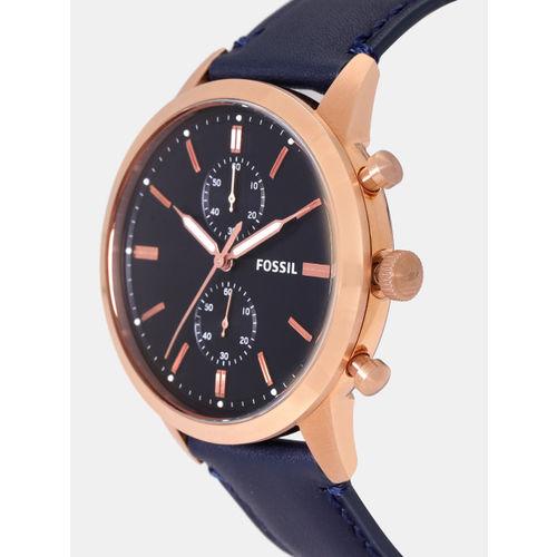 Fossil Men Navy Blue Chronograph Watch FS5436I_SOR