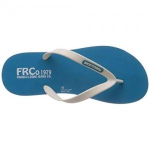 Franco Leone Blue Solid Men's Flip Flop