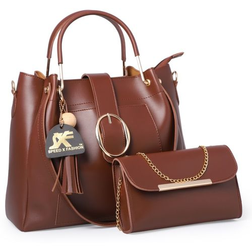 Speed X Fashion Women Brown Hand-held Bag