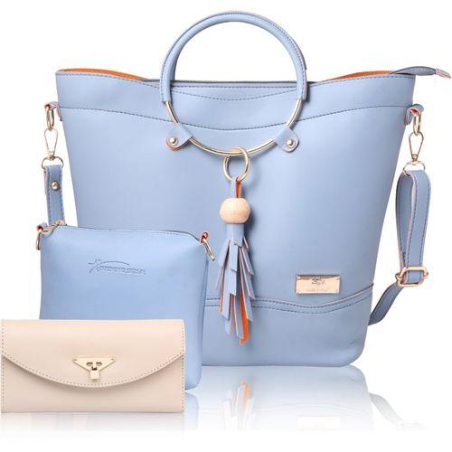 Shining Star Women Blue Hand-held Bag