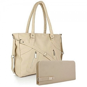 SCORIA Women Beige Shoulder Bag