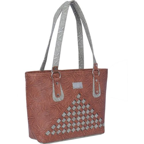 Janta Soft Women Brown, Grey Shoulder Bag