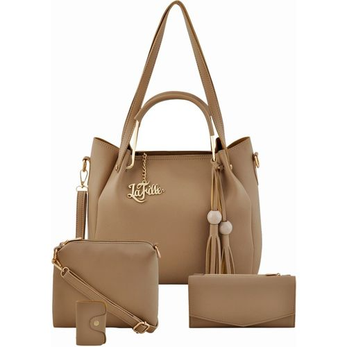LaFille Women Beige Hand-held Bag