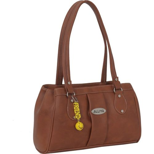 Alliya Women Tan Shoulder Bag