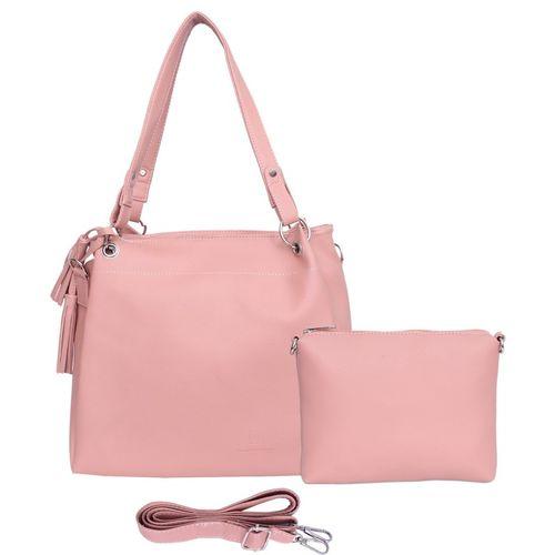 Leather Land Women Pink Shoulder Bag