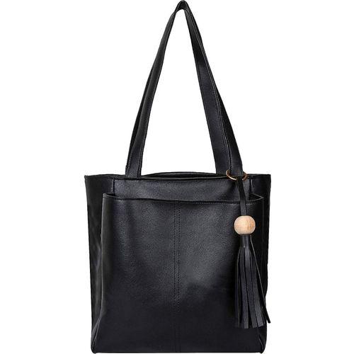 Wrodss Women Black Shoulder Bag