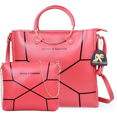 Speed X Fashion Women Pink Hand-held Bag