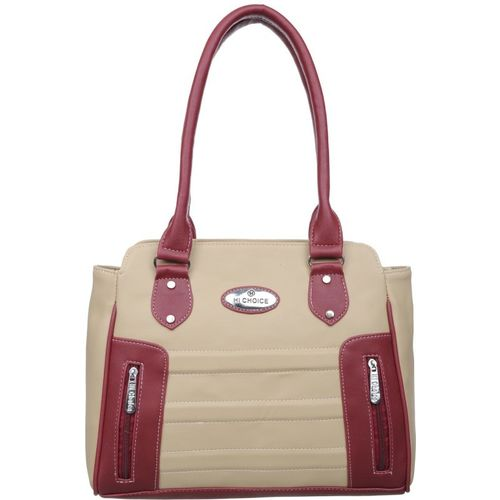 Hi-Choice Women Beige Shoulder Bag