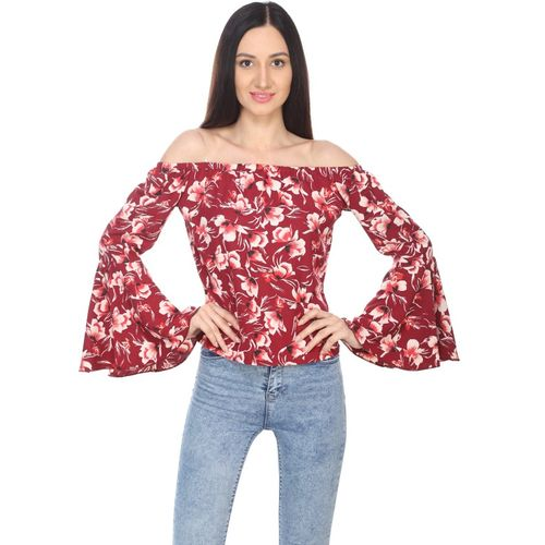 AV Fashion Casual Full Sleeve Solid Women Red Top