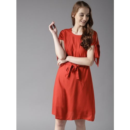 HERE&NOW Women A-line Red Dress