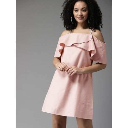 HERE&NOW Women A-line Pink Dress