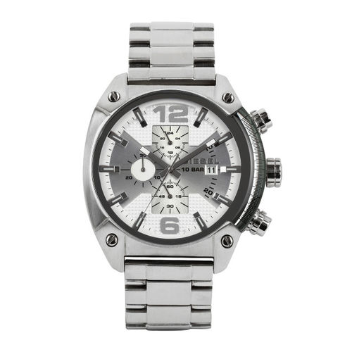 Diesel Men Silver-Toned Dial Watch DZ4203