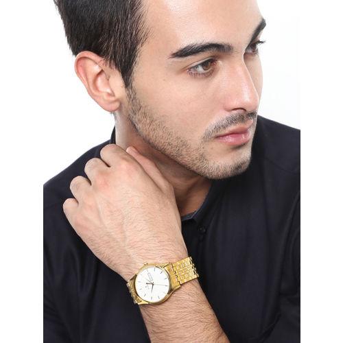 Titan Men Silver-Toned Dial Watch NF1636YM01