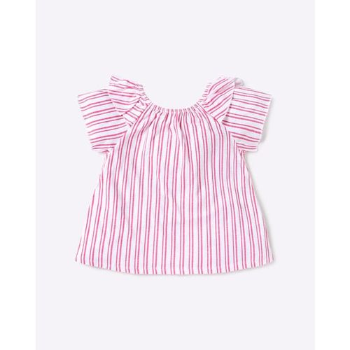 RIO GIRLS Striped T-shirt with Layered Bell Sleeves
