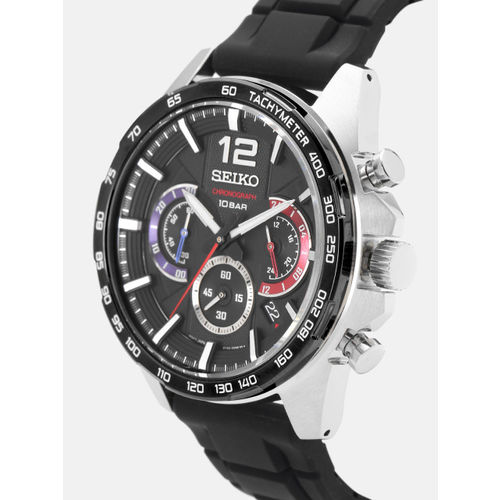 SEIKO Men Black Chronograph Watch SSB347P1