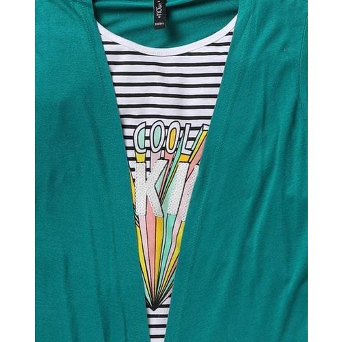 RIO GIRLS Striped Twofer T-shirt