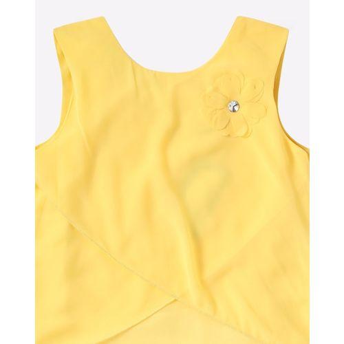 612 League Round-Neck T-shirt with Flower Applique