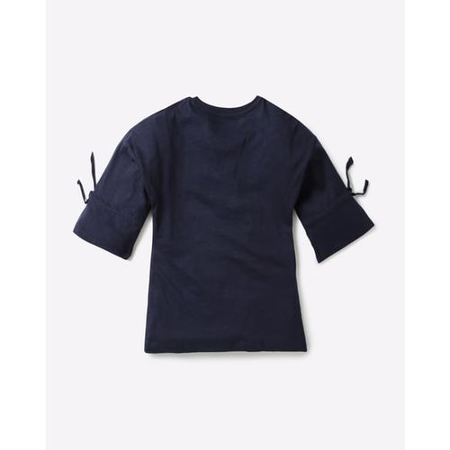 KG FRENDZ Graphic Print T-shirt with Bell Sleeves
