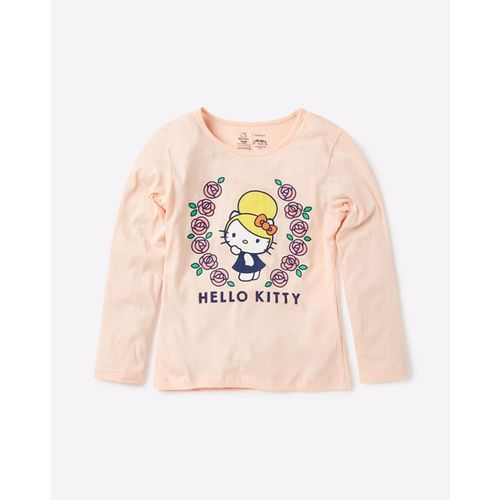 OTHER CHARACTERS Hello Kitty Print Crew-Neck T-shirt