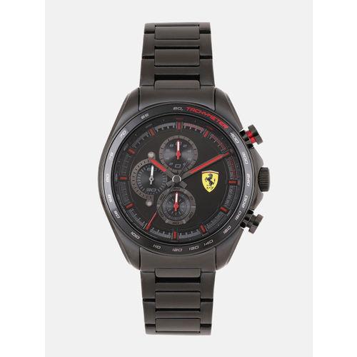 SCUDERIA FERRARI Men Black Chronograph Watch 0830654