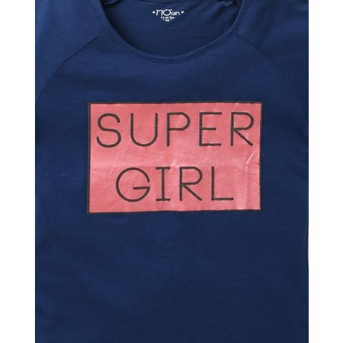 RIO GIRLS Typographic Print T-shirt with Raglan Sleeves