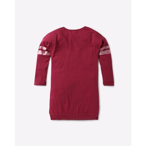 UNITED COLORS OF BENETTON Cotton Longline T-shirt with Applique