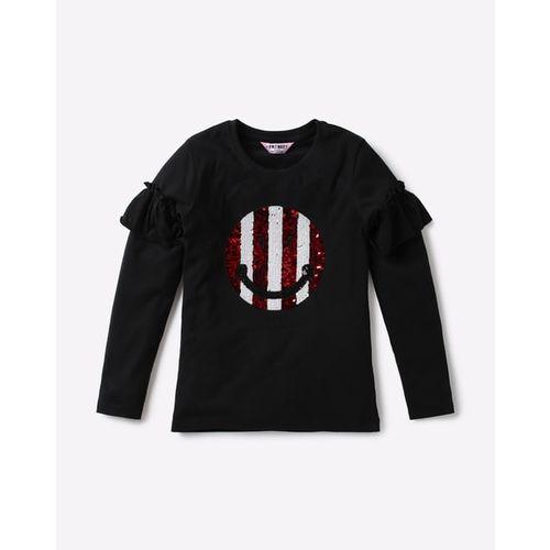 KG FRENDZ Round-Neck T-shirt with Sequins