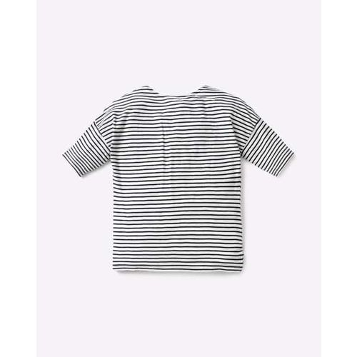 RIO GIRLS Striped T-shirt with Embellished Patch Pocket