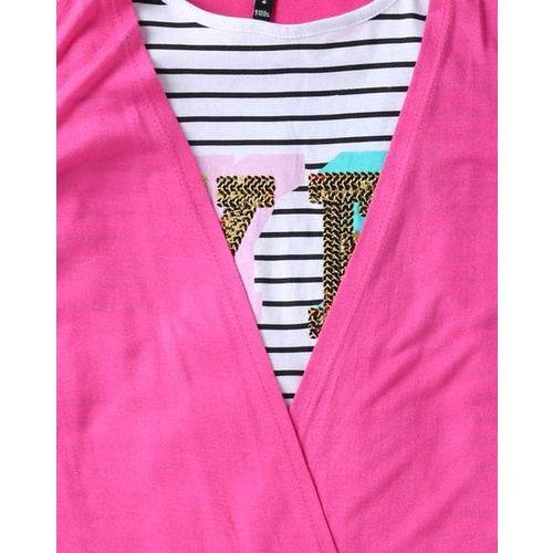 RIO GIRLS Striped Round-Neck T-shirt