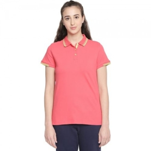 Ajile by Pantaloons Solid Women Round Neck Pink T-Shirt
